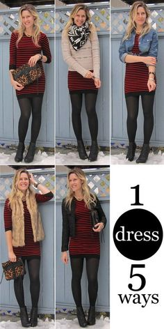 Outfit Pinspiration: Checked Shirt, Cargo Vest, Colored Leggings 1 dress, 5 ways // The Budget dress, 5 ways // The Budget Babe Look Fashion, Fashion Outfits, Womens Fashion, Fashion Trends, Fall Fashion, Fall Winter Outfits, Autumn Winter Fashion, Look Chic, Dress To Impress