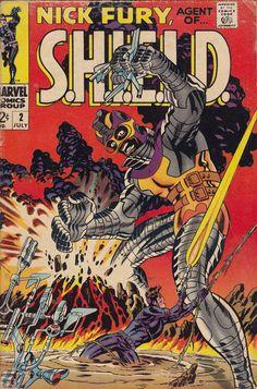 Nick Fury, Agent of Shield - Jim Steranko art & cover Best Comic Books, Marvel Comic Books, Comic Books Art, Comic Art, Comic Book Artists, Comic Book Characters, Comic Character, Nick Fury, Old Comics