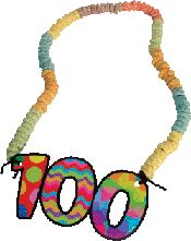 100th day cereal necklace
