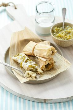 Homemade Roasted Poblano and Cheese Tamales / Love and Olive Oil