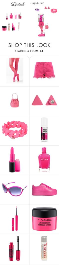 """""""hot pink pout"""" by effyswanhaze ❤ liked on Polyvore featuring beauty, Urban Outfitters, Love Moschino, Marc by Marc Jacobs, L'Oréal Paris, MAC Cosmetics, Tom Ford, Jeffrey Campbell, Sigma and Essence"""