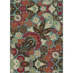 Tayse Rugs, Deco Blue 7 ft. 10 in. x 10 ft. 3 in. Transitional Area Rug, DCO1006 8x10 at The Home Depot - Mobile
