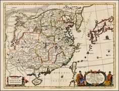 China, Korea & Japan 1670 by Athanasius Kircher.    Barry Lawrence Ruderman Antique Maps Inc.