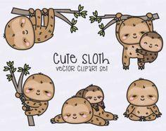 Premium Vector Clipart  Kawaii Baby Girl por LookLookPrettyPaper