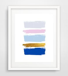Blue Abstract Art Print Abstract wall print Paint by Ikonolexi