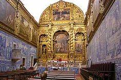 used as murals inside a church in Coimbra
