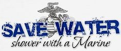 Save water shower with a marine