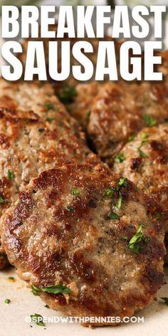 Best Sausage Gravy Recipe, Sausage Meat Recipes, Sausage Seasoning, Pork Recipes, Cooking Recipes, Sausage Spices, Homemade Breakfast Sausage, Recipes, Pork