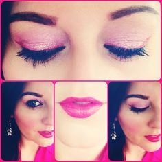 My valentine make. Pink and bold eye makeup