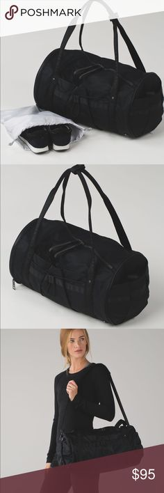 Lululemon Run Ways Duffel Black NWOT Lululemon Run Ways Duffel Bag Black.  Cute workout or anytime bag.  New without tags; purchased and removed tags but did not use. lululemon athletica Bags Travel Bags