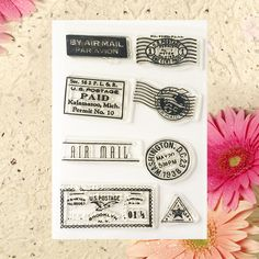 Scrapbook DIY photo cards account rubber stamp clear stamp finished transparent chapter BYE AIR MAIL 10.5*15.5 #Affiliate