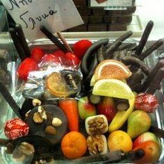 Leonidas dark chocolates, marzipan & jelly fruits perfect for fasting!