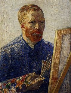 Vincent Van Gogh - Self-Portrait in front of the Easel, 1888