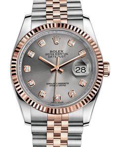 dc263e0643c6 Rolex 116231 silver Datejust Steel and Everose Gold.  rolex - золотые -  швейцарские мужские