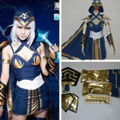 League of Legends LOL ADC Ashe Blau Kleid Lieblich Cosplay Costumes Kostüm Neu in Sammeln & Seltenes, Comics, Manga & Anime   eBay