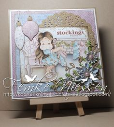 made by femke niessen: non traditional christmascard with magnolia scene!!!