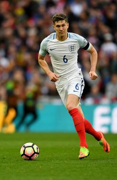 John Stones Photos - John Stones of England in action during the FIFA 2018 World Cup Qualifier between England and Lithuania at Wembley Stadium on March 2017 in London, England. - England v Lithuania - FIFA 2018 World Cup Qualifier England National Football Team, National Football Teams, England Football, Penalty Shoot Out, Word Cup, John Stones, World Cup Qualifiers, Wembley Stadium, Lionel Messi
