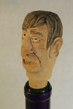 Hand Carved Wood Ugly Drunk Bottle Stopper by ClaudesWoodcarving, $25.00