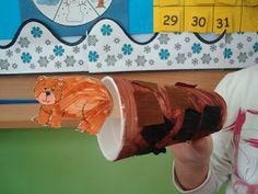 """Hibernating bear craft  - Going on a bear hunt? htis would be cute to do for the daisy's """"animal journey"""".."""