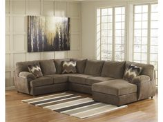 Signature Design By Ashley Living Room Cladio Right Chaise Sectional 603126    Furniture Fair   Cincinnati