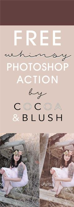 Free Whimsy Photoshop Action by Cocoa&Blush Free Photoshop, Photoshop Brushes, Photoshop Tutorial, Photoshop Actions, Photoshop Filters, Photography Basics, Photography Tips For Beginners, Photography Tutorials, Photography Business