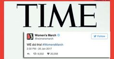 The pink symbol of what may have been the largest protest in U.S. history has gone from the streets and social media timelines to the front cover of TIME.   (via A pussyhat lands a spot on the cover of 'TIME and 'The New Yorker)