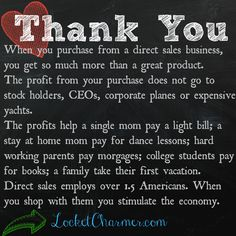 Thank You for supporting direct sales!