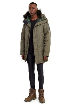OPENING CEREMONY Langford Parka - Army. #openingceremony #cloth #all