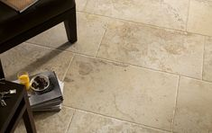 travertine looking ceramic rectangular floor tile