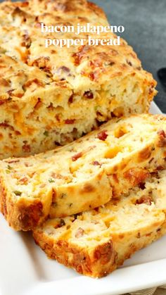 Cheesy Bread Recipe, Quick Bread Recipes, Cooking Recipes, Healthy Recipes, Bacon Cheese Bread Recipe, Bread With Cheese, Stuffed Bread Recipes, Cooking Tips, Cooking Classes