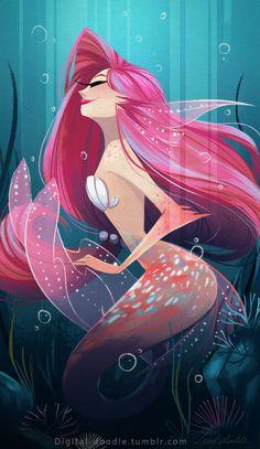 Old Mermaid drawing for Sketch Dailies :)