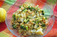 Pan-roasted cauliflower and broccoli
