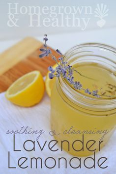 Honey sweetened lemonade infused with lavender. Calming, soothing and helps with digestion