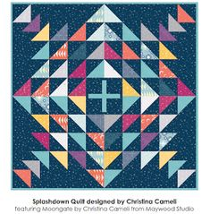 A Few Scraps: Splashdown: Free Pattern for charm packs! Charm Square Quilt, Charm Quilt, Half Square Triangle Quilts, Quilting Projects, Quilting Designs, Quilting Ideas, Lattice Quilt, Baby Quilt Tutorials, History Of Quilting