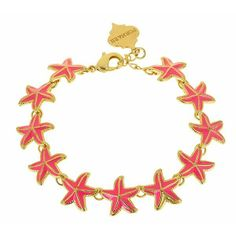Be seaside no matter where you are with the Pacific bracelet from #SwellCaroline . {color choices: bubble gum pink, aqua or white} #Starfish