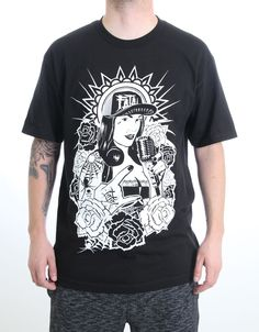 e896676f Fatal Clothing Front Chick Tee Men's Black #Pinup Girl #Tattoos Graphic T- shirt