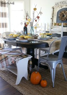 Antique Book Fall Table - House by Hoff
