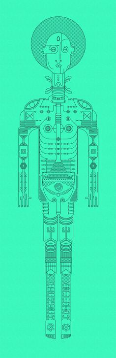 Inner self Illustration by Nick Kelly, via Behance