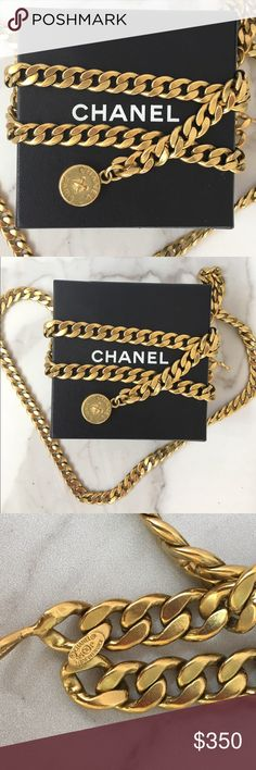 """Chanel Belt 100% authentic vintage Chanel belt. Length is adjustable up to about 38"""". Small signs of wear on the chain, no discoloration. Great condition! Comes with box. No trades or PayPal please use offer button for all offers. CHANEL Accessories Belts"""