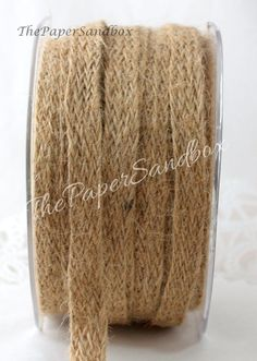 Burlap Ribbon, 1/2 inch wide Ribbon by the yard, DIY Weddings, Gift Wrap, Crafts, Nautical Ribbon, Party Supplies, Sewing, Rustic Wedding