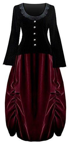 Victorian Valentine Steampunk Gothic Civil War Velvet Wom... https://www.amazon.com/dp/B016NI2J06/ref=cm_sw_r_pi_dp_x_TuhZxb5H4AD6M