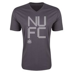 Newcastle United Pixel Graphic V-Neck T-Shirt