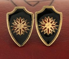Macedonian Star or Vergina Sun shield cufflinks, men's jewelry and accessories