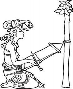 Original Drawing of Ixchel, Maya Goddess. $15.00, via Etsy