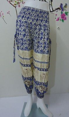 Hey, I found this really awesome Etsy listing at https://www.etsy.com/listing/192093559/blue-elephants-trouser-harem-ali-baba