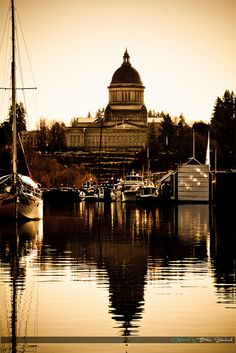 Olympia WA Capitol Building    I love the sepia color