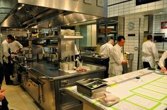The Kitchen At Per Se.... FYI. most restaurant kitchens DO NOT look like this. I wish mine had this space.: