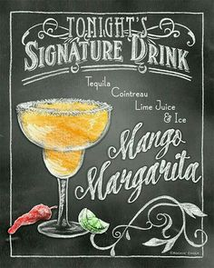 Signature Drink Signs Chalkboard style Prints for by RockinChalk Bar Drinks, Cocktail Drinks, Alcoholic Drinks, Chalkboard Lettering, Chalkboard Designs, Drink Signs, Getting Drunk, Signature Cocktail, Kitchen Art