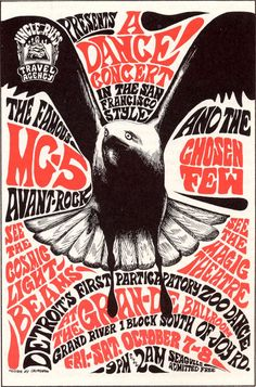 MC5 classic rock psychedelic concert poster