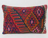 16x24 artisanship kilim pillow decoration lumbar pillow throw pillow sofa geometric throw pillow bed pillow sham sofa cushion orange 26102